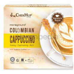 Chek Hup Colombian Cappuccino Coffee 6x28gm