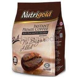 Nutrigold 2in1 Instant Coffee No Sugar Added 30x20gm