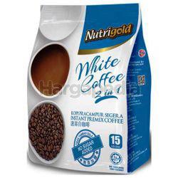 Nutrigold 2in1 White Coffee No Sugar 15x30gm