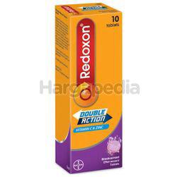 Redoxon Double Action Vitamin C & Zinc Effervescent Blackcurrant 10s