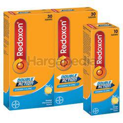 Redoxon Double Action Vitamin C & Zinc Effervescent Orange 2x30s+10s
