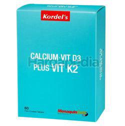 Kordel's Calcium + Vitamin D3 500iu + Vitamin K2 60mg 60s