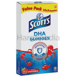 Scott's DHA Gummie Strawberry 2x15s
