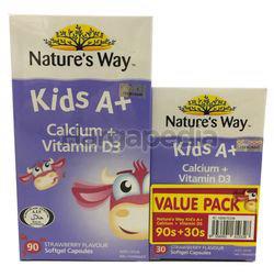 Nature's Way Kids A+ Calcium + Vit D3 90s + 30s