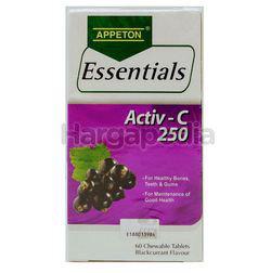 Appeton Essentials Activ-C Blackcurrant  250mg 60s