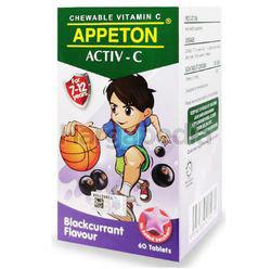 Appeton Activ-C Blackcurrant Chewable Vitamin C 60s