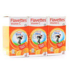 Flavettes C Vitamin C 500mg Sugar Free 3x50s