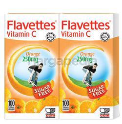 Flavettes Sugar Free Vitamin C 250mg 2x100s