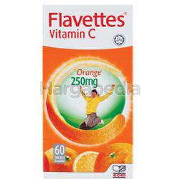Flavettes C Vitamin C 250mg Orange 60s