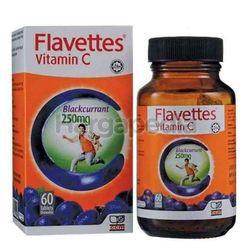 Flavettes C Vitamin C 250mg Blackcurrant 60s