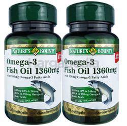 Nature's Bounty Omega 3 Fish Oil 2x30s