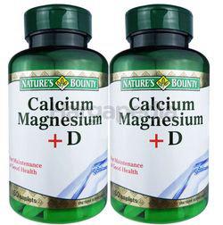 Nature's Bounty Calcium Magnesium +D 2x60s