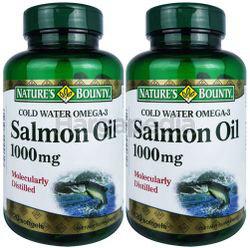 Nature's Bounty Salom Oil 1000mg 2x120s