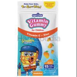 Super Kids Vita Gummy Vitamin C + Zinc Mango Flavour 15s