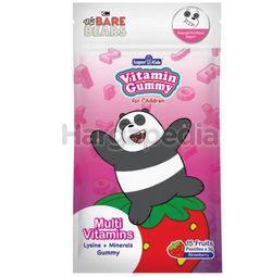Super Kids Vita Gummy Lysine + Minerals + Multi Vitamins Strawberry Flavour 15s