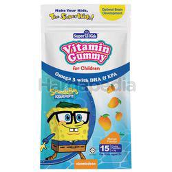 Super Kids Vitamin Gummy Omega 3 with DHA&EPA Mango Flavour 15s