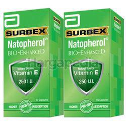 Surbex Natopherol Bio-Enhanced Vitamin E 250I.U 2x60s