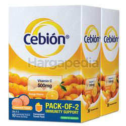 Cebion Chewable C 500mg Orange 2x30s