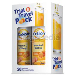 Cebion Effervescent Tables Trial & Travel Pack 20s