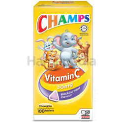 Champs C 30mg Blackcurrant 100s