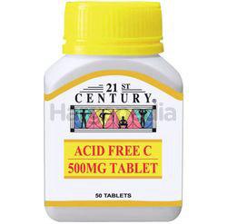 21st Century Acid Free C 500mg 50s
