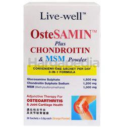 Live-Well Ostesamin Plus Chondroitin + MSM Powder 30s