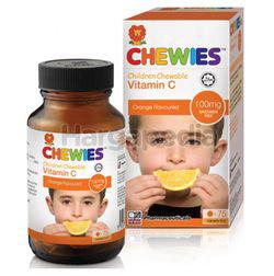 Chewies Children Chewable Vitamin C 100mg Orange 75s