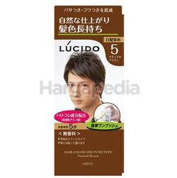 Lucido Hair Color One Push  5 Natural Brown 1set
