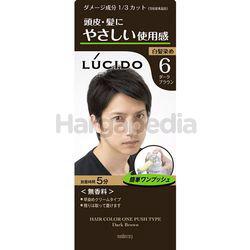Lucido Hair Color One Push 6 Dark Brown 1set