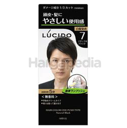 Lucido Hair Color One Push 7 Natural Black 1set