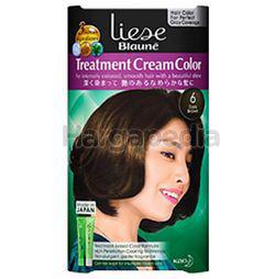 Liese Blaune Treatment Cream Hair Color 6 Dark Brown 1set