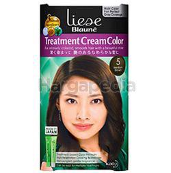 Liese Blaune Treatment Cream Hair Color 5 Medium Brown 1set