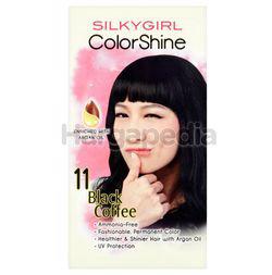 Silky Girl Color Shine Hair Color 11 Black Coffee 1set