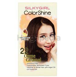 Silky Girl Color Shine Hair Color 22 Creme Caramel 1set