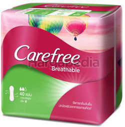 Carefree Breathable Pantyliner Scented 40s