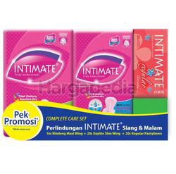 Intimate Complete Care Set Daylite Slim Wing 20s + Nitelong Maxi Wing 16s + Pantyliner 20s