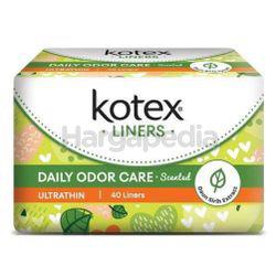 Kotex Fresh Daily Odor Care Pantyliner Ultra Thin Daun Sirih 40s