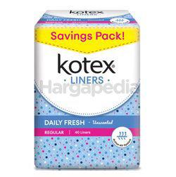 Kotex Fresh Pantyliner Regular Unscented 40s