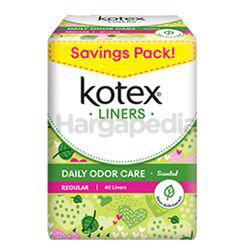 Kotex Fresh Daily Odor Care Pantyliner Regular Scented Daun Sirih 40s