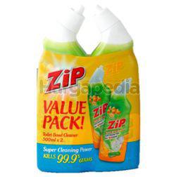 Zip Toilet Bowl Cleaner Lemon 2x500ml