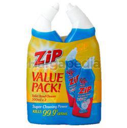 Zip Toilet Bowl Cleaner Floral 2x500ml