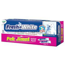 Fresh & White Toothpaste Extra Cool Mint 2x225gm