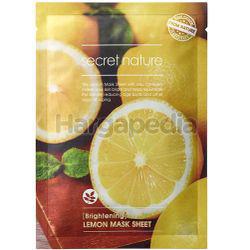 Secret Nature Brightening Lemon Facial Mask 1s