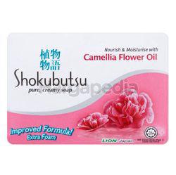 Shokubutsu Bar Soap Camellia Flower Oil 3x90gm