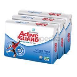 Shokubutsu Active Guard Bar Soap Sporty Fresh 3x120gm