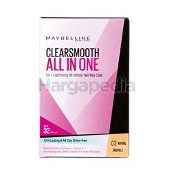 Maybelline Clear Smooth All-In-One Two Way Cake Refill 03 Natural 1s