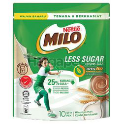 Milo 3in1 Less Sugar 10x27gm