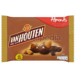 Van Houten Whole Roasted Almonds Coated with Milk Chocolate 80gm