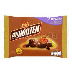 Van Houten Whole Raisins Coated with Milk Chocolate 80gm