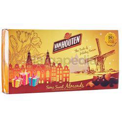 Van Houten Chocolate Box Semi Sweet Almonds 180gm